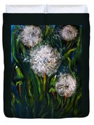 Dandelions Acrylic Painting Duvet Cover