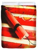 Danger Bomb Background Duvet Cover