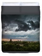 Dangerous Stormy Clouds Over Warsaw Duvet Cover
