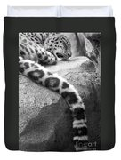 Dangling And Dozing In Black And White Duvet Cover