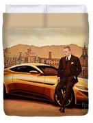 Daniel Craig As James Bond Duvet Cover