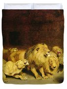 Daniel In The Lions Den Duvet Cover