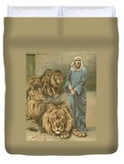 Daniel In The Lions Den Duvet Cover by John Lawson