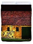 Danish Barn Watercolor Version Duvet Cover