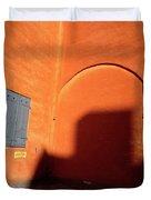 Danish Orange And Shadows  Copenhagen Denmark Duvet Cover