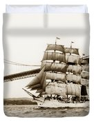 Danmark Sailing Under The Golden Gate Bridge San Francisco Duvet Cover