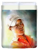 Danny Willett In The Madrid Masters Duvet Cover
