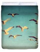 Dans Avec Les Oiseaux Duvet Cover by Taylan Apukovska