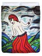 Danza De Mar Y Luna Duvet Cover