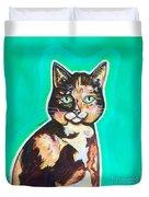 Daphne The Calico Cat Duvet Cover