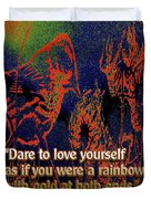 Dare To Love Yourself On National Selfie Day Duvet Cover