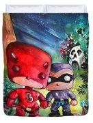 Funkos Daredevil And The Phantom In The Jungle Duvet Cover