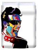 Dario Franchitti Pop Art Style Duvet Cover