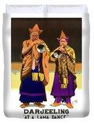 Darjeeling, Lama Dance Musicians, India Duvet Cover