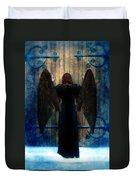 Dark Angel At Church Doors Duvet Cover
