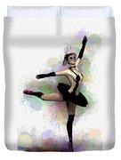Dark Ballerina  Duvet Cover