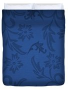 Dark Blue Floral Duvet Cover