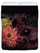 Dark Bouquet Duvet Cover
