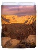 Dark Canyon Sunset Duvet Cover