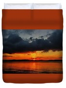 Dark Cloud Sunrise Duvet Cover