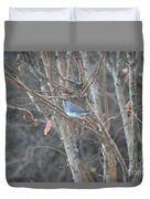 Dark Eyed Junco Perched On Tree Limb Duvet Cover