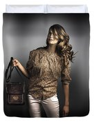 Dark Fashion Style With Fashionable Bag Accessory Duvet Cover