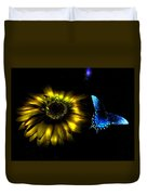 Dark Glow Butterfly Duvet Cover