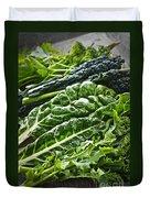 Dark Green Leafy Vegetables Duvet Cover