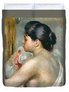 Dark-haired Woman Duvet Cover