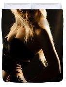 Dark Mysterious Dancer Duvet Cover