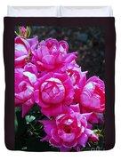 Dark Pink Roses Duvet Cover