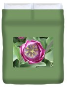 Dark Pink Tulip Duvet Cover