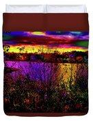 Dark Psychedelic Sunset Duvet Cover