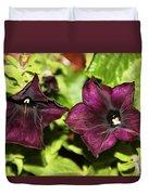 Dark Purple Petunia Duvet Cover