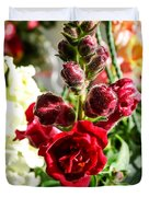 Dark Red Fancy Snapdragon Duvet Cover