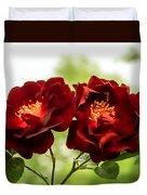 Dark Red Roses Duvet Cover