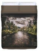 Dark River Woods Duvet Cover