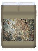 Dark Sandstone Surface With Moss Duvet Cover