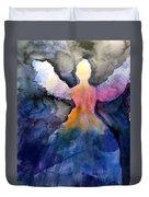 Dark Skies Angel Duvet Cover