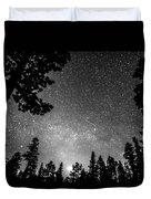 Dark Stellar Universe Duvet Cover