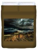Dark Storm Clouds Over Cliffs Duvet Cover