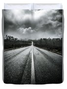 Dark Stormy Road To Cradle Mountain In Tasmania Duvet Cover