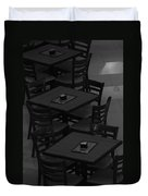 Dark Tables Duvet Cover