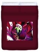 Dark Tulip Macro Duvet Cover