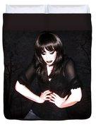 Dark Winter - Self Portrait Duvet Cover