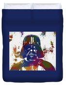 Darth Vader Paint Splatter Duvet Cover