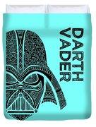 Darth Vader - Star Wars Art - Blue Duvet Cover
