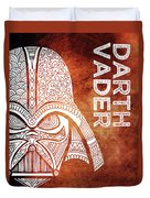 Darth Vader - Star Wars Art - Brown And White Duvet Cover