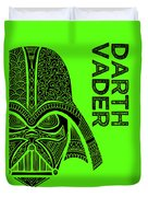 Darth Vader - Star Wars Art - Green Duvet Cover