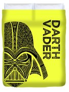 Darth Vader - Star Wars Art - Yellow Duvet Cover